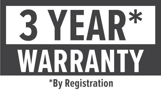 Warranty: 3 Year (By Registration)