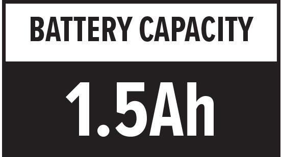 Battery Capacity: 1.5Ah