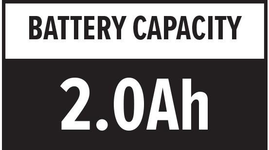 Battery Capacity: 2.0Ah