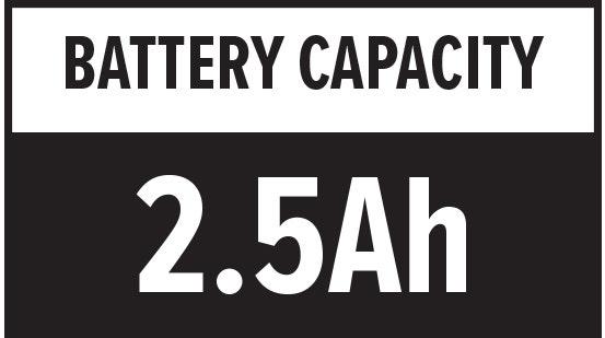 Battery Capacity: 2.5Ah