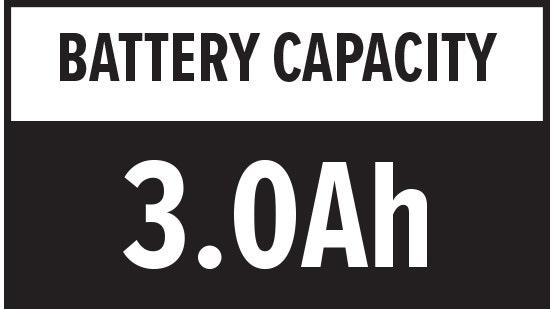 Battery Capacity: 3.0Ah