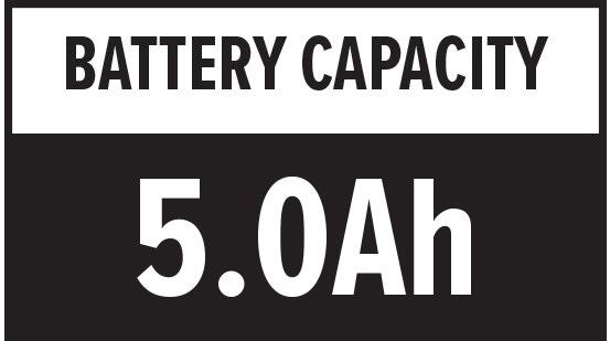 Battery Capacity: 5.0Ah