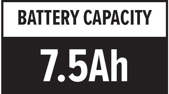 Battery Capacity: 7.5Ah