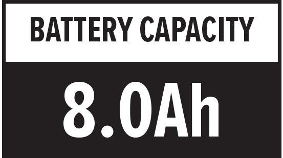 Battery Capacity: 8.0Ah