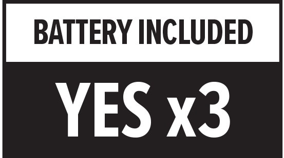 Battery Included: Yes x3