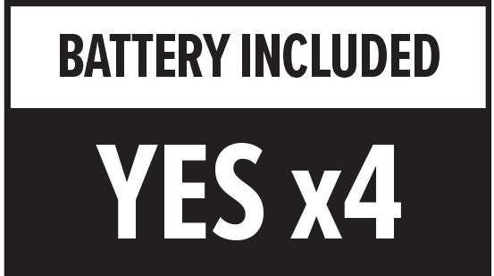 Battery Included: Yes x4