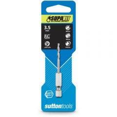 SUTTON 3.5 x 68mm 1/4-Hex Quick-Change HSS Jobber Drill Bit - SUPABIT