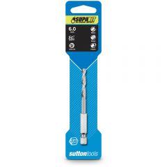 SUTTON 6.0 x 93mm 1/4-Hex Quick-Change HSS Jobber Drill Bit - SUPABIT