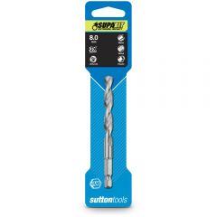 SUTTON 8.0 x 105mm 1/4-Hex Quick-Change HSS Jobber Drill Bit - SUPABIT