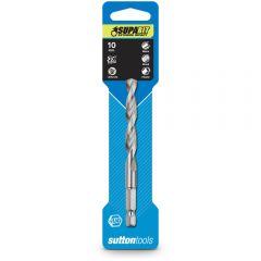 SUTTON 10.0 x 115mm 1/4-Hex Quick-Change HSS Jobber Drill Bit - SUPABIT