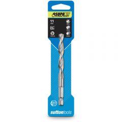 SUTTON 11.0 x 120mm 1/4-Hex Quick-Change HSS Jobber Drill Bit - SUPABIT