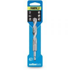 SUTTON 12.0 x 125mm 1/4-Hex Quick-Change HSS Jobber Drill Bit - SUPABIT