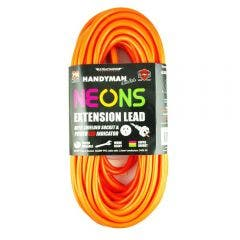 ULTRACHARGE 20m 10A Bright Neon Colour Extension Lead UR24020N