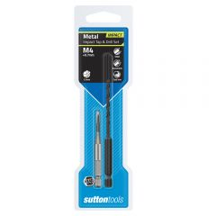 SUTTON M4 1/4inch Hex Impact Tap & Drill Set  M1050400
