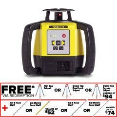 LEICA Rotating Laser Level Red Beam Manual-Single-Grade RUGBY 640 LG6005989