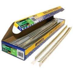 BREMICK 6g x 25mm Zinc Yellow Fine Collated Screws - 1000 Piece SDYCZ06025C