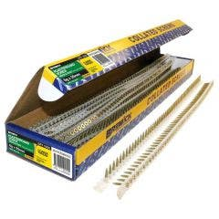 BREMICK 6g x 25mm Zinc Yellow Coarse Collated Screws - 1000 Piece SDYRZ06025C
