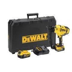 DEWALT 18V XR Brushless 2 x 5.0Ah Finisher Nailer Kit DCN660P2-XE
