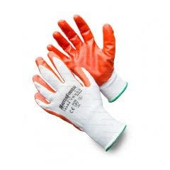 MASTERFINISH 5 Pack Trade Tough Contractors Nitrile Gloves MFNGO-5