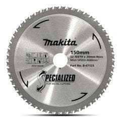 MAKITA 150mm 52T TCT Circular Saw Blade for Metal Cutting - SPECIALIZED