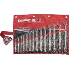SIDCHROME Met In Wallet, 440 Series Spanner Set 14Pc SCMT22297