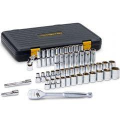 GEARWRENCH 1/2inch MET/AF STD & Deep 6PT Socket Set 49pc 80700P