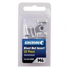 KINCROME M6 Aluminium Rivet Nut Insert - 20 Pack K4906
