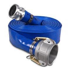 AUSSIE PUMPS 3inch x 100m Blue Lay Flat Discharge Hose QLFH75BL100F