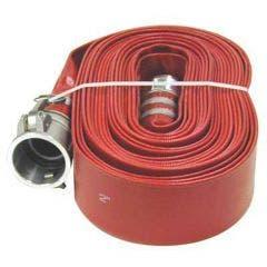 AUSSIE PUMPS 4inch x 50m Red Lay Flat Discharge Hose QLFH100RL050F