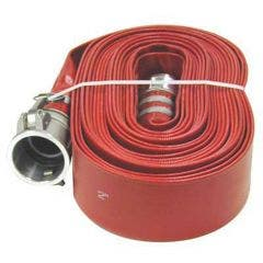 AUSSIE PUMPS 6inch x 50m Red Lay Flat Discharge Hose QLFH150RL050F