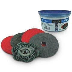 PFERD 125mm Ceramic Fibre Disc Starter Pack - COMBICLICK - 5 Piece