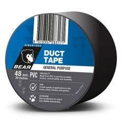 BEAR Black PVC Duct Tape 63642583589
