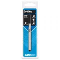 SUTTON 8.0 x 79mm HSS-Cobalt Spot Weld Drill Bit - Hand Drills