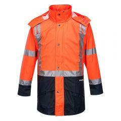 HUSKI Farmwear Hi-Vis Wet Weather Jacket 1XL Orange 918104ORXL