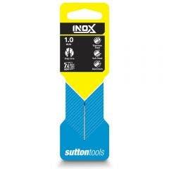 SUTTON 1.0 x 34mm HSS-TIAIN Jobber Drill Bit for Stainless - INOX