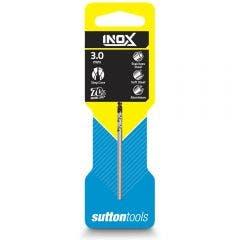 SUTTON 3.0 x 61mm HSS-TiAIN Jobber Drill Bit for Stainless - INOX