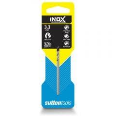 SUTTON 3.3 x 65mm HSS-TiAIN Jobber Drill Bit for Stainless - INOX