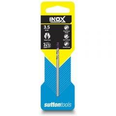SUTTON 3.5 x 70mm HSS-TiAIN Jobber Drill Bit for Stainless - INOX