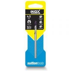 SUTTON 4.5 x 80mm HSS-TiAIN Jobber Drill Bit for Stainless - INOX