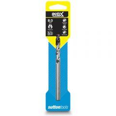 SUTTON 8.0 x 117mm HSS-TiAIN Jobber Drill Bit for Stainless - INOX