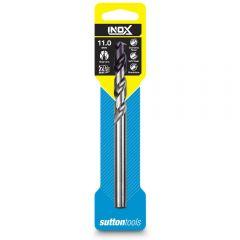SUTTON 11.0 x 142mm HSS-TiAIN Jobber Drill Bit for Stainless - INOX