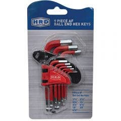 HRD 9 Pc Imperial Hex Key Set HRD9PCAKAFSH