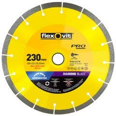 FLEXOVIT 230mm Segmented Diamond Blade for Tiles & Clay Bricks