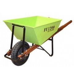 EASYMIX Fugly Wheelbarrow Timber Handle F-Free Wheel FU1200-HBHNBS
