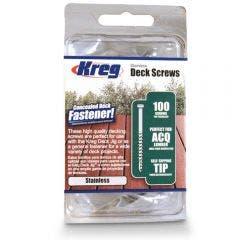 KREG Decking Screws Coarse Stainless Steel 50mm - 100 Piece