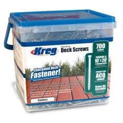 KREG Decking Screws Coarse Stainless Steel 50mm - 700 Piece KR-SDK-C2SS-700