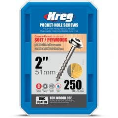 KREG 250 Piece 51mm Pocket-Hole Screws KR-SMLC2-250
