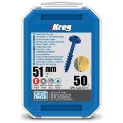 KREG Pocket Hole Screws Coarse Blue-Kote 51mm - 50 Piece KR-SMLC2B-50