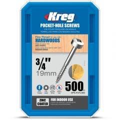 KREG Pocket Hole Screws Coarse-Thread 64mm - 125 Piece KR-SPSF075-500