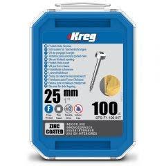 KREG Pocket Hole Screws Fine Pan Head Zinc - 100 Piece KR-SPSF1-100